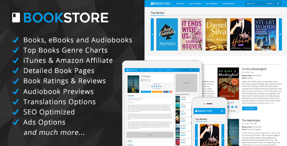 BookStore - Books, eBooks and Audiobooks Affiliate Script