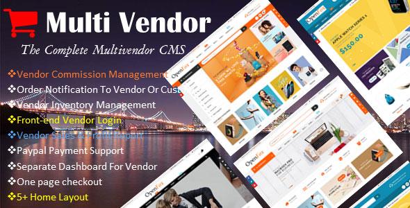 Ecommerce Multi-Vendor Website Builder - The Complete Multi-vendor CMS