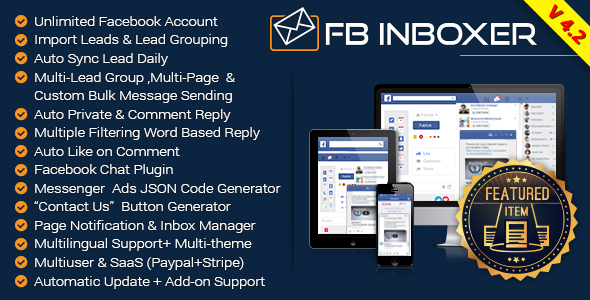 FB Inboxer v4.2 - Master Facebook Messenger Marketing Software