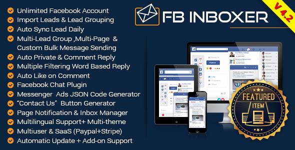 FB Inboxer v4.2 - Master Facebook Messenger Marketing Software