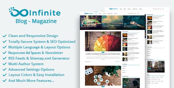 Infinite v3.4 - Blog & Magazine Script