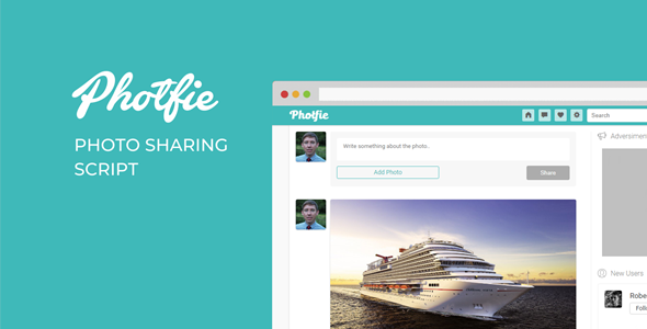 Photfie - A Photo Sharing Script