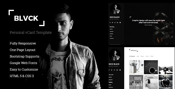 Nulled blvck personal vcard resume template nulledtorrent blvck is a fully responsive personal vcard and resume cv template the template has built with bootstrap 336 and html5 css3 yelopaper Image collections