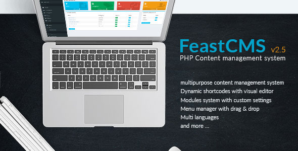 Feast cms v2.5 - PHP Content management system