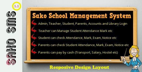 Responsive Sako School Management System