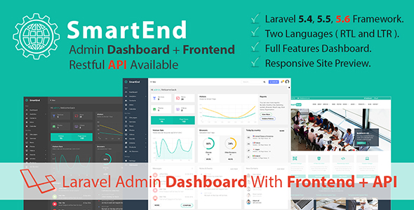 SmartEnd - Laravel Admin Dashboard with Frontend and Restful API