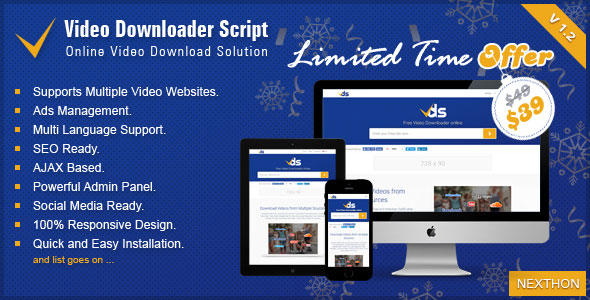 Video Downloader Script v1.2 - All In One Video Downloader