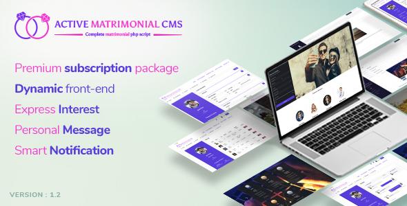 Active Matrimonial CMS v1.2.0