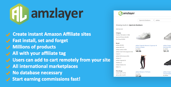 Amzlayer v1.10 - Amazon Affiliate Sites Builder