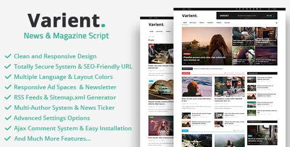 Varient v1.3.2 - News & Magazine Script