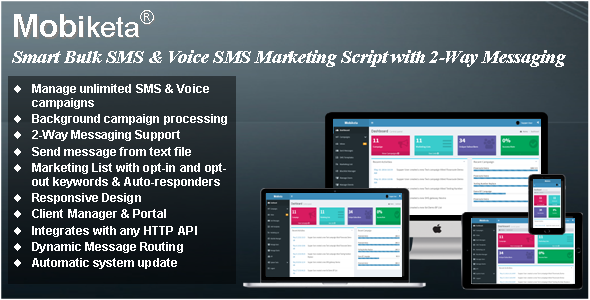 Mobiketa v4.0.1 - Complete Mobile Marketing Script with Bulk SMS