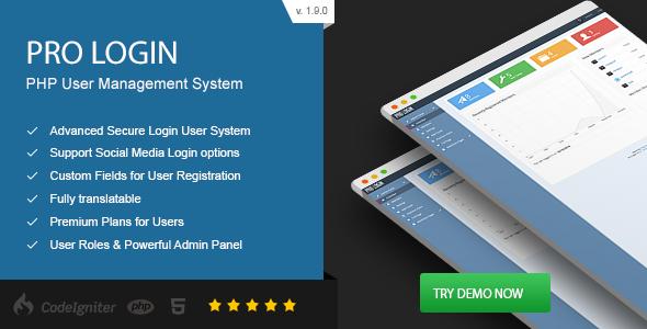 Pro Login v1.9.0 - Advanced Secure PHP User Management System