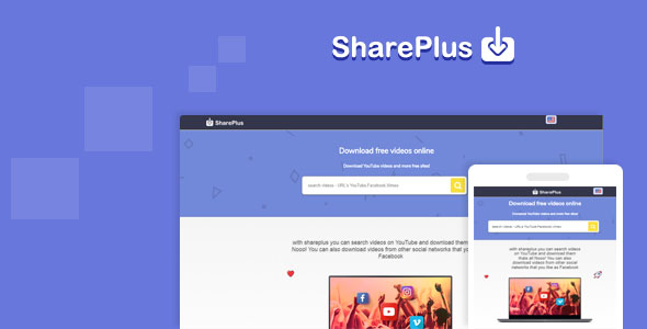Shareplus v2.1 - Video Downloader from youtube, facebook,instagram and video search