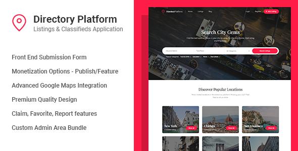 Directory Platform v1.0.6 - Listings & Classifieds