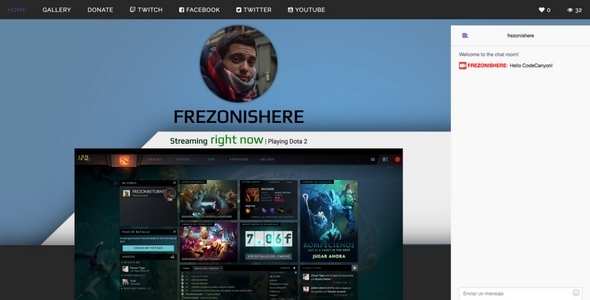 Twitch.tv - stream web streaming + gallery