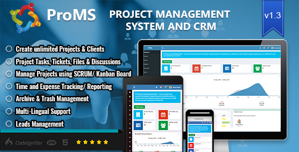ProMS v1.3.1 - Premium Project Management System