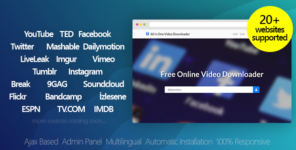 All in One Video Downloader v3.2 - Youtube and more - nulled