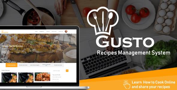 Gusto v3.2 - Recipes Management System