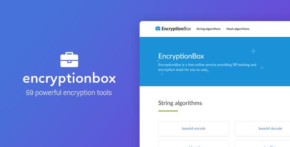 EncryptionBox - 59 Powerful Encryption Tools