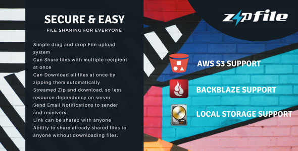 ZipFileMe v2.5.1 - Secure and Easy File sharing
