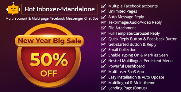 Bot Inboxer - Standalone v2.2 - Multi-account & Multi-page Facebook Messenger Chat Bot - nulled
