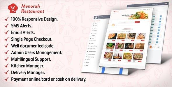 Menorah Restaurant v1.0 - Restaurant Food Ordering System