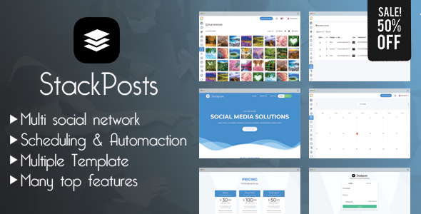 Stackposts v4.4 - Social Marketing Tool - nulled