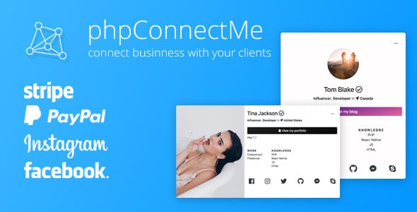 phpConnectMe - Instagram Custom Social Profile