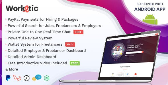 Worketic v1.1 - Market Place for Freelancers