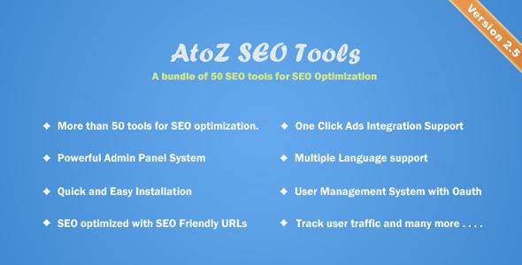 AtoZ SEO Tools v2.5 - Search Engine Optimization Tools