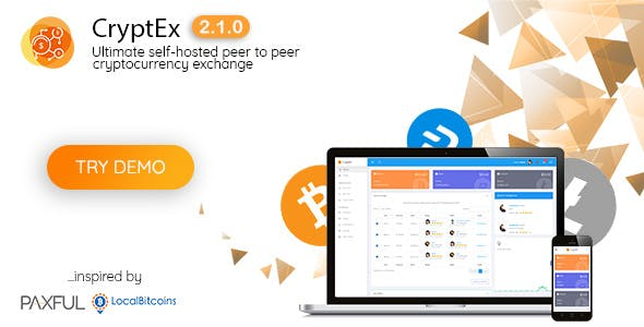 CryptEx v2.1.0 - Ultimate peer to peer CryptoCurrency Exchange platform (with self-hosted wallets) - nulled