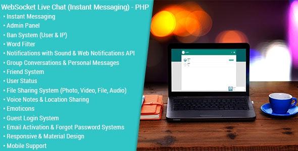WebSocket Live Chat (Instant Messaging) v2.0.1 - PHP