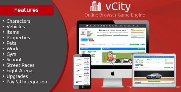 vCity v1.6 - Online Browser Game Engine