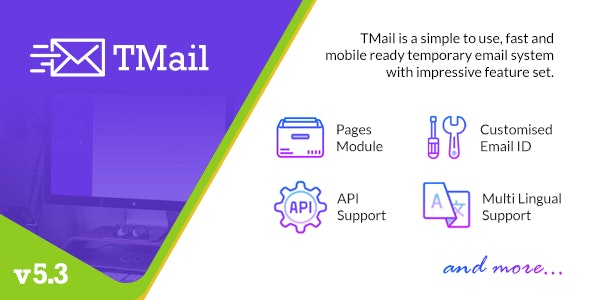 TMail v5.3 - Multi Domain Temporary Email System