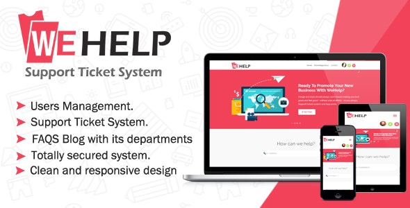 WeHelp v3.5 - Ticket Support System