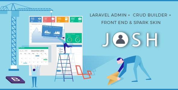 Josh v6.1 - Laravel Admin Template + Front End + CRUD