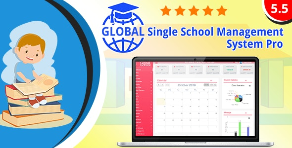 Global v5.5 - Single School Management System Pro