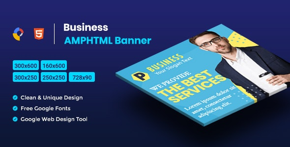 Business AMPHTML Banners Ads Template V04