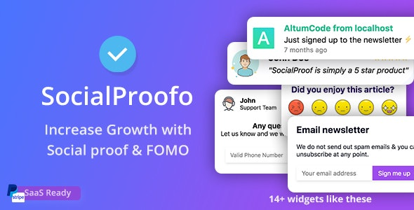 SocialProofo v1.7.1 - 14+ Social Proof & FOMO Notifications for Growth - nulled