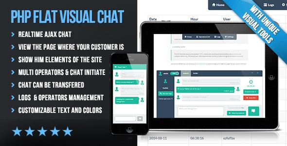 PHP Flat Visual Live Chat v4.20