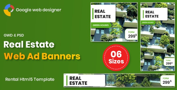 Real Estate Banners Google Web Designer v1.0