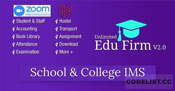 Unlimited Edu Firm School & College Information Management System v2.0
