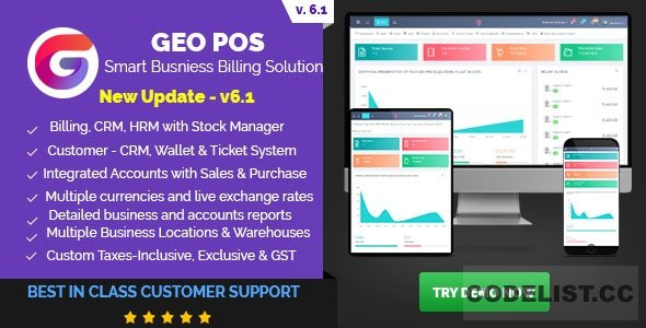 Geo POS v6.1 - Point of Sale, Billing and Stock Manager Application - nulled