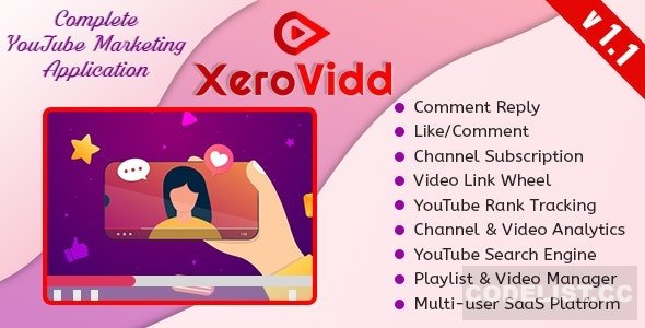 XeroVidd v1.1 - Complete YouTube Marketing Application (SaaS Platform)