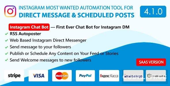 DM Pilot v4.1.0 - Instagram Chat Bot, Web Direct Messenger & Scheduled Posts - nulled