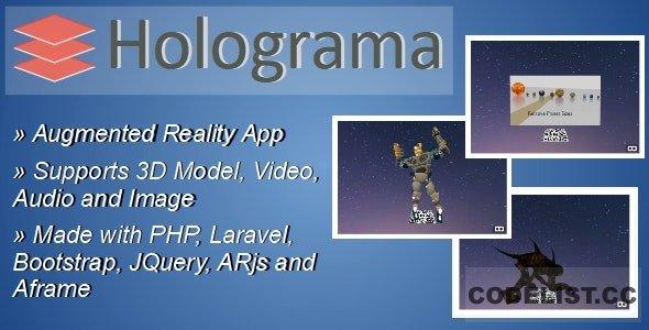 Holograma v2.1 – Augmented Reality Builder App