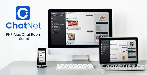 ChatNet v1.1 - PHP Ajax Chat Room & Private Chat Script - nulled