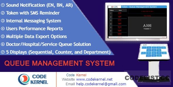 Queue Management System v4.0.0 - nulled
