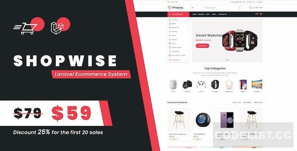 Shopwise v1.0 - Laravel Ecommerce System