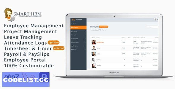 Smart HRM v1.6 - HR Management with Project Management, Payroll, Attendance & Time sheet Lite
